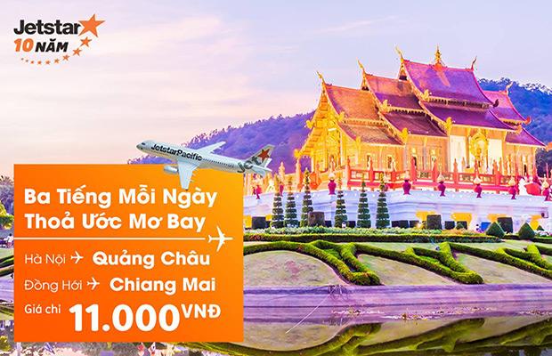 Jetstar đi Chiang Mai / Quảng Châu chỉ 11.000đ !